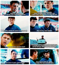 Bones always has the best lines in Star Trek into Darkness.