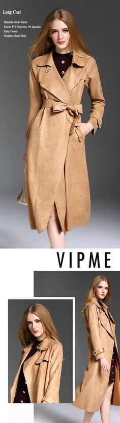 Quality fashion can be affordable. Shop at VIPme for a wide-selection of styles. Find Suede coat like this Suede Shawl Neck Waist Tied Camel Long Coat . We've got you covered whether you need work clothes, a casual day outfit or a special event dress.