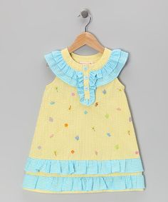 Take a look at this Yellow Embroidered Beach Dress - Infant & Toddler by Samara on #zulily today!