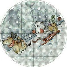 Новогодняя вышивка крестом, схемы / Вышивка крестиком и бисером - схемы и хвастушки / Лунтики. Развиваем детей. Творчество и игрушки