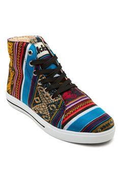 Bluebird Vegan Sneakers - Blue from Inkkas at StriveGreen #FairTrade #Peru #Authentic #Textile #Vegan