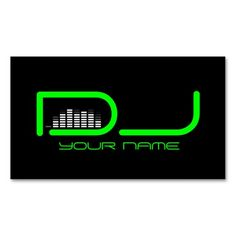 Unique DJ Business Card. I love this design! It is available for customization or ready to buy as is. All you need is to add your business info to this template then place the order. It will ship within 24 hours. Just click the image to make your own!