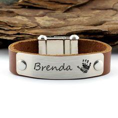 Personalized Handprint Bracelet, Keepsake Bracelet, Sentimental Gifts, Custom Name Bracelet, Personalized Gifts, Personalized Jewelry