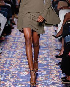 BRANDON MAXWELL LAYERED SILK MINI SKIRT, OLIVE. #brandonmaxwell #cloth #