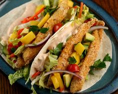 recipe: baked fish tacos (crust with popchips instead of fried ingredients to cut the fat and calories in half!)