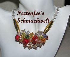Perlentraube - Modschmuck by perlenfee, K 1594  Modeschmuck der besonderen Art!  Für diese hübsche Perlenkette sind Kunststoffperlen in verschiedenen ...
