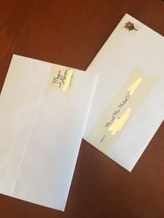 white envelope with wrap around address labels simple assembled wedding invitations etsycom - Address Labels For Wedding Invitations
