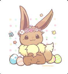 Eevee surrounded by eggs Eevee Wallpaper, Cute Pokemon Wallpaper, Pokemon Eeveelutions, Eevee Evolutions, Pokemon Comics, Pokemon Fan Art, Pokemon Stuff, Kawaii Drawings, Cute Drawings