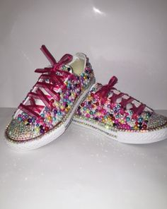 Custom bling Converse All Star Chuck Taylor Sneakers embellished with high  quality rhinestones and pearls. Perfect for weddings shoes 52f1effb8