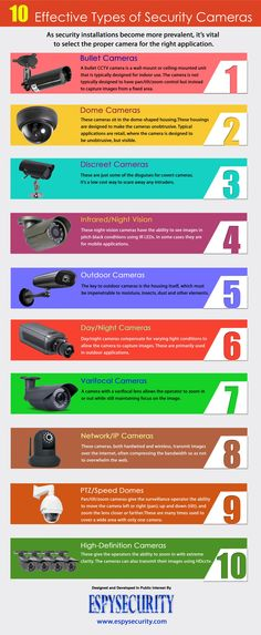10  Effective Types of Security Cameras Infographic