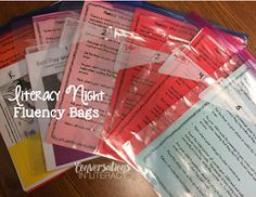 Family Literacy Night- Campfires & Tents FLUENCY BAGS