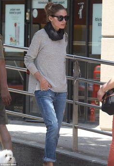 OP I NYC boyfriend jeans & slouchy grey jumper