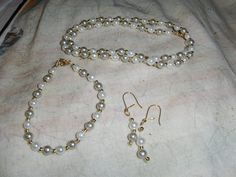 """""""Gray Mini Pearls"""" 3 piece set --- $5.00 + $3.00 shipping in the USA"""