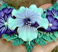 polymer clay flowers