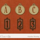 Digital Element Kit - October Meeting - Alphabet - FREE