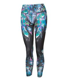 Another great find on #zulily! Peacock Leggings - Women #zulilyfinds