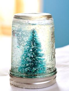 Mason Jar Snow Globe Tutorial – Julie Ann Art