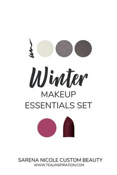 Sarena Nicole Essential Makeup Colors for Cool and Vibrant Winters! This essentials collection set includes: Black Mechanical Eyeliner Refillable Eyeshadow Palette with applicator Sug… Winter Lipstick, Berry Lipstick, Winter Makeup, Summer Makeup, Clear Winter, Dark Winter, Deep Winter Colors, Color Me Beautiful, Winter Essentials