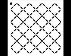 Quilted Diamond Pattern Stencil  Select Size  por StudioR12 en Etsy