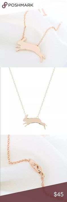 Boho jumping rabbit necklace host pick ❤️️ new and high quality A beautiful and versatile accessory for the whole year        Make you feel distinctive. It is a beautiful and fashion gift Fashion and elegant design. Eye-catching when wear them in the street, very charming. Great accessory and decoration for girls, women. A good choice as a gift for your friends Color: Silver ,Gold Weight:app 8g qiamni Jewelry Necklaces