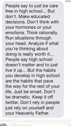 High school tip.