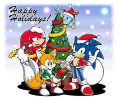 A little gift for you: brand new Sonic art! Happy Holidays, from all of us at SEGA!