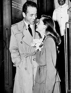 Bogie and Bacall - so in love.