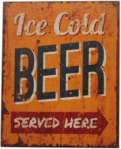 Ice Cold Beer Textual Art Print on Wood George Oliver Painting Prints, Canvas Prints, Art Prints, Frames On Wall, Framed Wall Art, Ice Beer, Beer Signs, Typography, Lettering