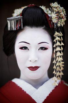 Maiko Henshin, Japanese girl at Sannen-zaka street, Kyoto, Japan