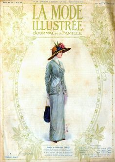 Issued March 24, 1912  The French fashion magazine MODE ILLUSTRE