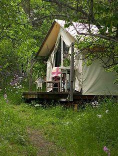Tent living year round
