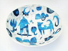 Large Serving Bowl  Ceramic Serving Bowl  by susansimonini on Etsy, $80.00
