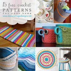 15 Free and Adorable Crochet Patterns for the Home.
