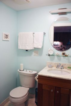 cute clock in the bathroom. genius!