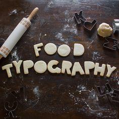 Food Typography Photo Book on Behance
