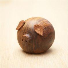 Stumped Studio - Pig, Wooden Character, 12x10x10cm