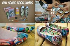 Comic book shoes!