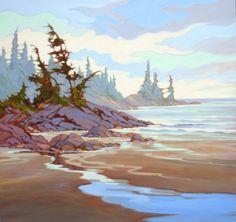 Member of the MyArtClub.Com Art Community Coastal Paint, Amanda Jones, Watercolor Landscape Paintings, Pastel, Colorful Paintings, Beach Scenes, Learn To Paint, Surreal Art, Community Art