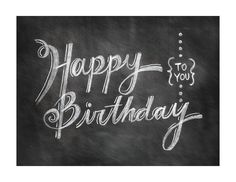 Chalkboard Happy Birthday Card - Printable Download. $5.00, via Etsy.