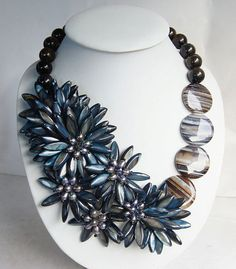 Bead NecklaceBeaded JewelryMothers by audreyjewelry on Etsy, $39.50
