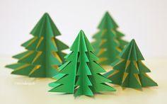 DIY: Weihnachtsbaum gefaltet aus einem Stück DinA4