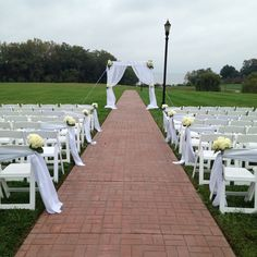 Outside ceremony with window arch Floral Impressions www.myfloralimpressions.com 410-329-1406