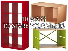 Home Inspiration: 10 Shelves And Bins For Storing Vinyl Records Because you all know how many Vinyls you own