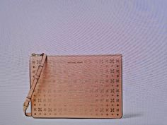 6589cf002df9 Michael Kors Ava Large Perforated Leather Convertible Clutch/XBodyBag-Peach  NWT #MichaelKors #
