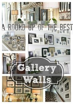 A round up of the best Gallery Walls-Gallery Walls, display, favorite gallery walls Stair Wall Decor, Stair Walls, Stairs, French Country Cottage, Cozy Cottage, Cool Diy Projects, Picture Wall, Photo Wall, Gallery Walls