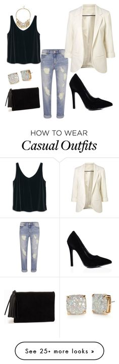 """""""Business Casual"""" by rachelslauter on Polyvore featuring MANGO, Kate Spade, Sole Society, VILA and NLY Accessories"""