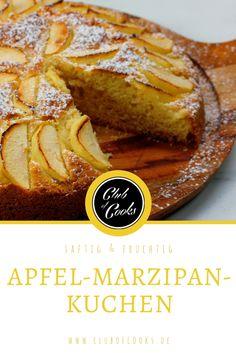 Saftiger Apfel und süßer Marzipan gehen Hand in Hand in diesem saftigen Kuchen, der in der Winterzeit auf keiner guten Kaffeetafel fehlen darf.