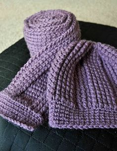 A Girl and Her Yarn: Cluster Stitch Scarf and Accompanying Hat