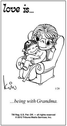 Love is being grandma