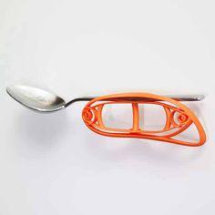 3D printed eating utensil holder